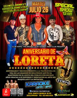 loretta anniversary at tempo
