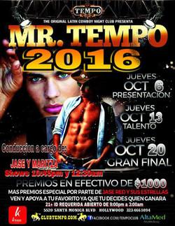 MISTER TEMPO 2016
