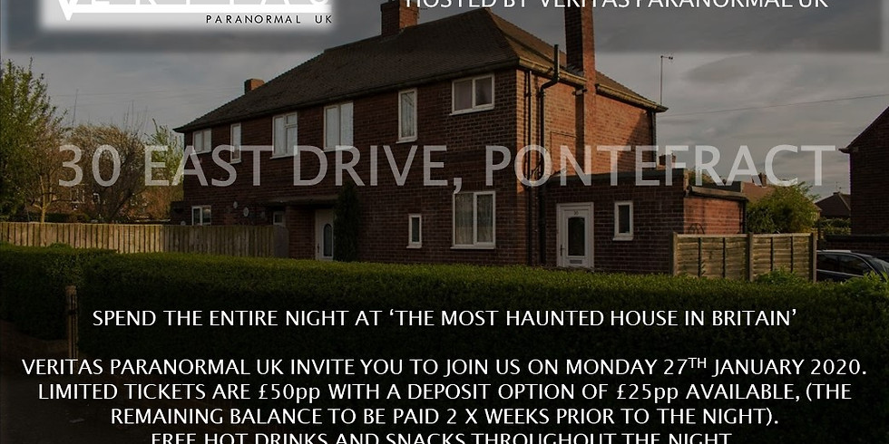 30 East Drive, Pontefract - Charity Paranormal Investigation
