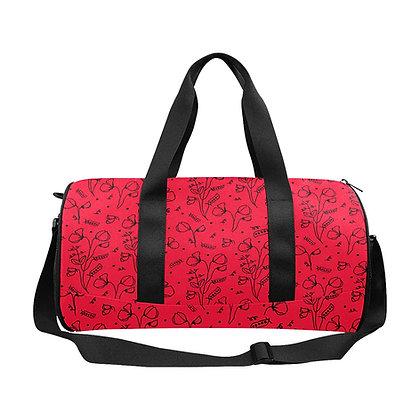 Duffel Bag - #sweetpealust (red/black)