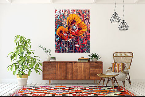 Art - Meadow Poppies - Autumn