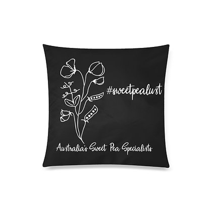 Throw Pillow Cover - #sweetpealust (black/white)