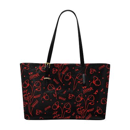 Large Tote Bag - #sweetpealust (black/red)