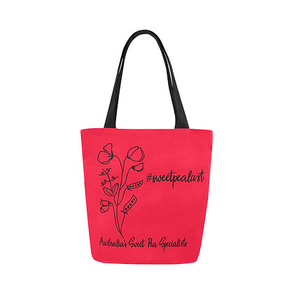 Tote Bag - #sweetpealust (red)