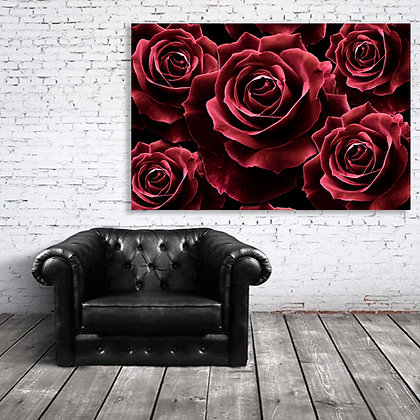 Art - Bunch of Red Red Roses