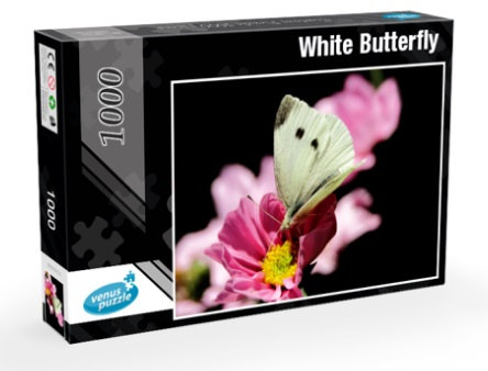 Jigsaw Puzzle 1000 pieces - White Butterfly