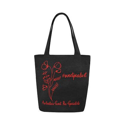 Tote Bag - #sweetpealust (black/red)