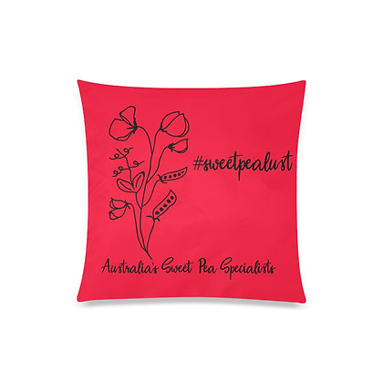 Throw Pillow Cover - #sweetpealust (red)