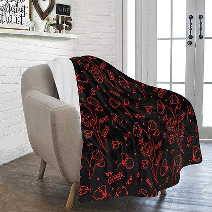 Throw Blanket - #sweetpealust (black/red)