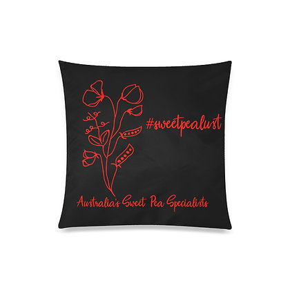 Throw Pillow Cover - #sweetpealust (black/red)