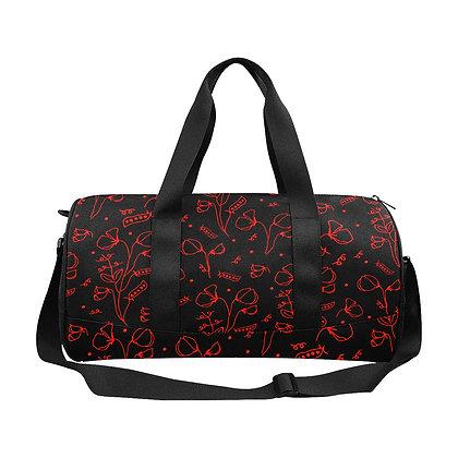 Duffel Bag - #sweetpealust (black/red)