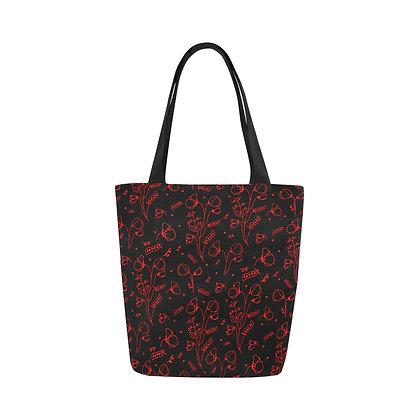 Tote Bag - #sweetpealust (black/red pattern)