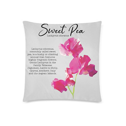 Throw Pillow Cover - Sweet Pea Botanical