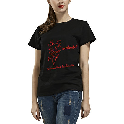 T-shirt - #sweetpealust (black/red)
