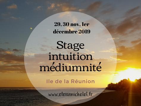 Stage Intuition & Médiumnité à la Réunion, fin novembre 2019 avec Elena Michelet