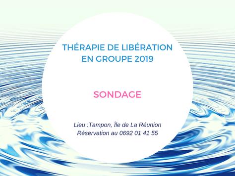SONDAGE Thérapie de Libération collective