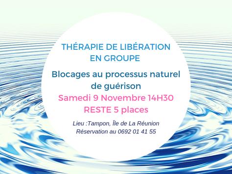 Blocages au processus naturel de guérison, Libération collective 09/11/19 à 14H30 reste 5 places
