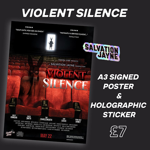 A3 Signed Poster & Holographic Sticker