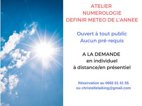 ATELIER NUMEROLOGIE : DEFINIR SA METEO DE L'ANNEE