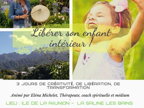 """Stage """" Libérer son enfant intérieur"""" avec Elena Michelet en Avril 2020"""