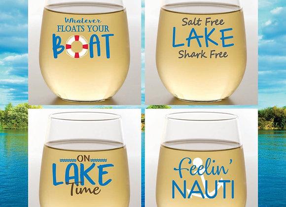 LAKE Life Plastic Wine Glass