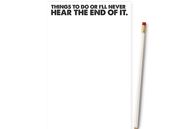 Things To Do Or ... Notepad