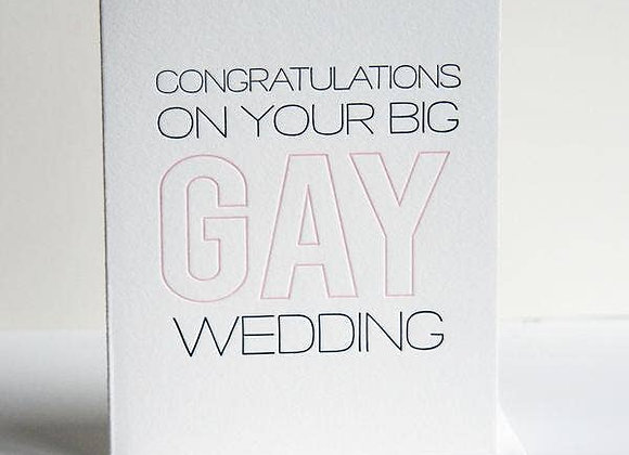 Big Gay Wedding Card