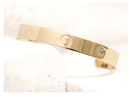Cuff Bracelet Gold  - Symbols that reflect Beauty and  Uniqueness