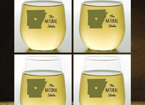 ARKANSAS | Shatterproof Wine Glass Stemless | Set of 4