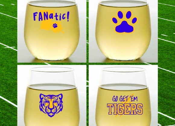 LSU Shatterproof Wine Glasses