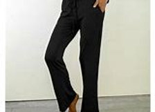 Bamboo Draw String Pants | Black