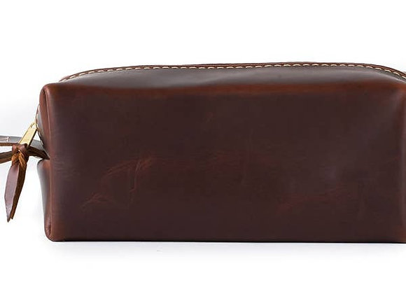 Leather Toiletry Bag-Standard-Oxford Brown
