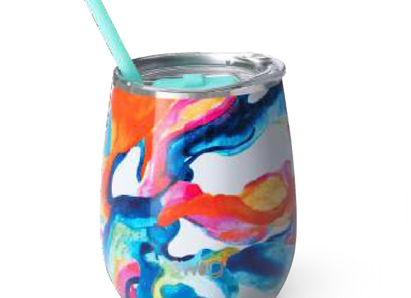 Color Swirl 14 oz. Stemless Cup