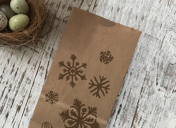 Snowflakes Snack Bag