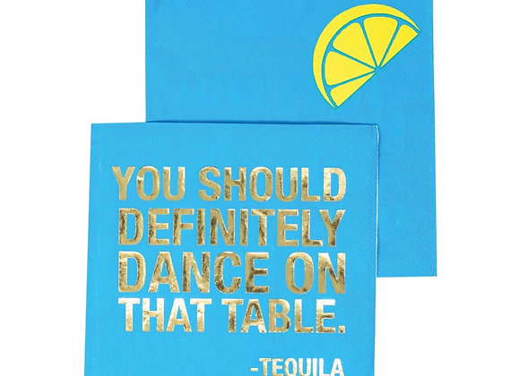 Tequila Text Cocktail Napkins