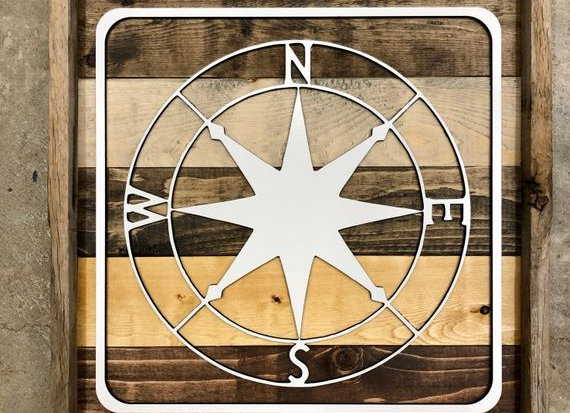 Compass Recreational Sign - 12x12 in.