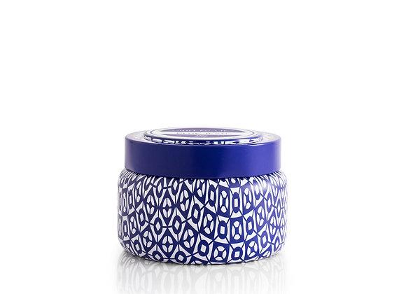 Blue Capri Candle - Printed Travel Tin, 8.5oz.