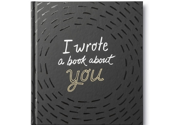 I wrote a Book about you! Fill in the blank memory book.
