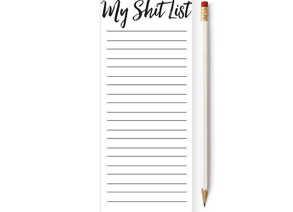 My Shit List Skinny Notepad