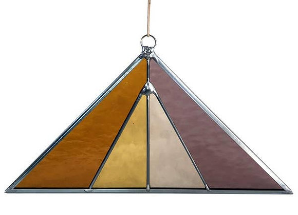 Triangle Stained Glass Suncatcher Summer