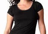 Bamboo Short Sleeve Sleep Shirt | Black