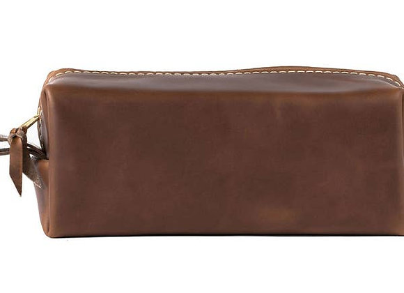 Leather Toiletry Bag-Small-Oxford Natural