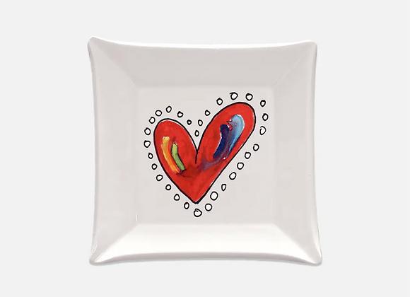 Dot Heart Trinket Dish