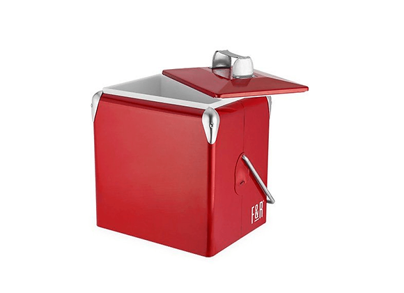 Vintage Metal Cooler - RED