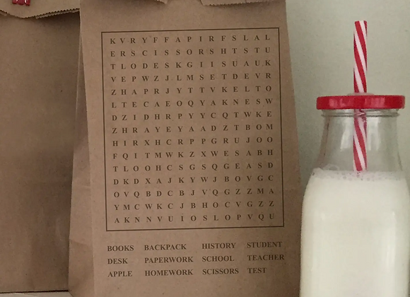 Word Search Lunch Bag