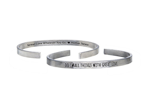 Do Small Things - Quotable Cuff Bracelet
