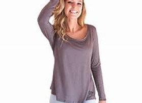 Bamboo Long Sleeve Shirt | Earl Grey