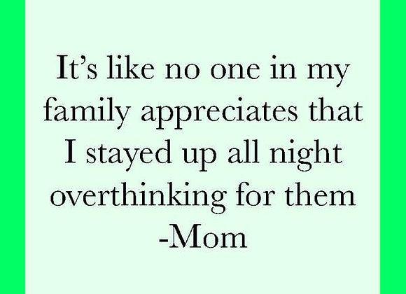 Overthinking It, Mom - Drink Coaster