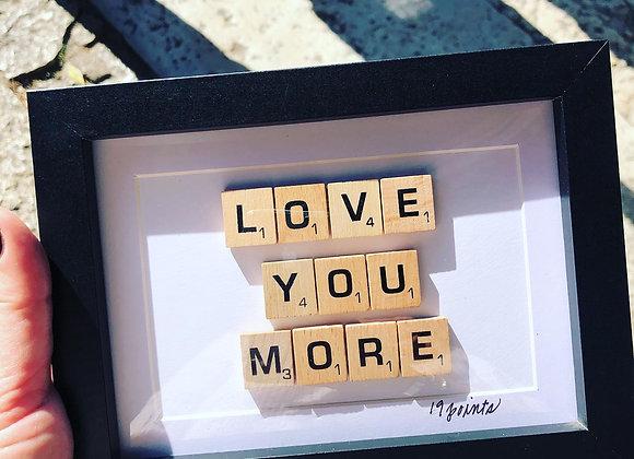 Scrabble Tile Words 5x7 - View Four Options