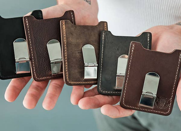 Money Clip& Card Holder - Leather